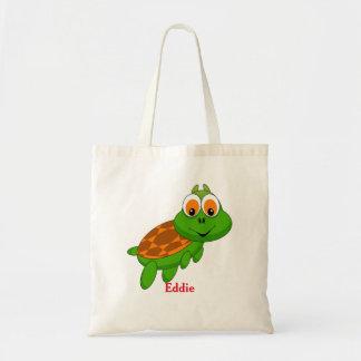 Niedliche Schildkröte-personalisierte Tragetasche