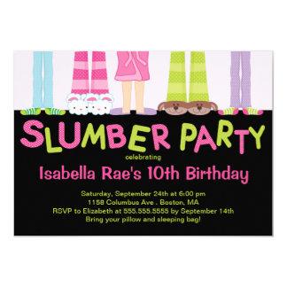 Niedliche Schlummer-Party-Geburtstags-Party 12,7 X 17,8 Cm Einladungskarte