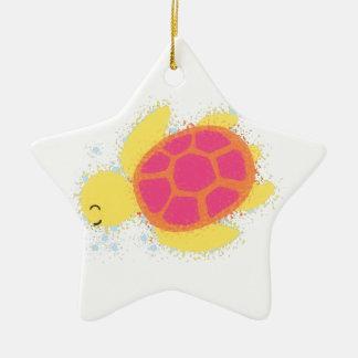 Niedliche Seeschildkröte Keramik Stern-Ornament