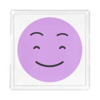 Niedliche smileybehälter acryl tablett