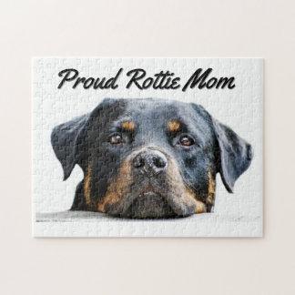 Niedliche stolze Rottie Mamma der Rottweiler Puzzle