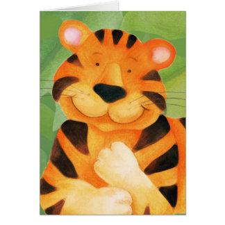 Niedliche Tigerkunst-Kindergeburtstag Karte
