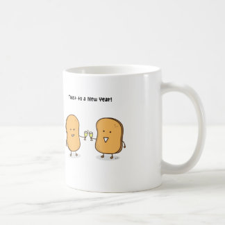 Niedliche Toast zu einem nagelneuen Jahr Tasse