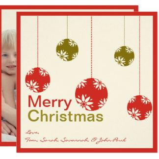 Niedliche Verzierungs-frohe Weihnacht-Karten Karte