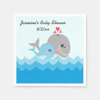 Niedliche Wal-Jungen-Baby-Dusche Serviette