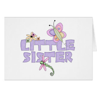 Niedliche Wanzen-kleine Schwester Karte