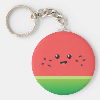 Niedliche Wassermelone, glücklich und nett Standard Runder Schlüsselanhänger