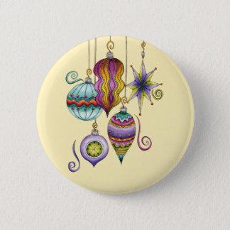 Niedliche Weihnachten-, elegante und Runder Button 5,1 Cm