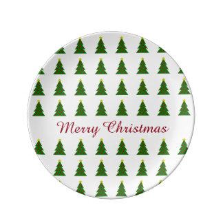 Niedliche Weihnachtsbäume personalisiert Teller
