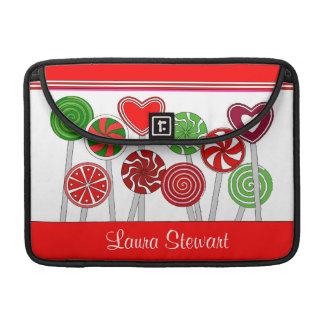 Niedliche Weihnachtslutscher-Klappen-Hülse MacBook Pro Sleeve