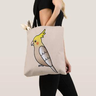 Niedliche Zimtcockatiel-Cartoon-Vogel-Illustration