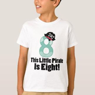 Niedlicher 8. Geburtstags-Pirat T-Shirt