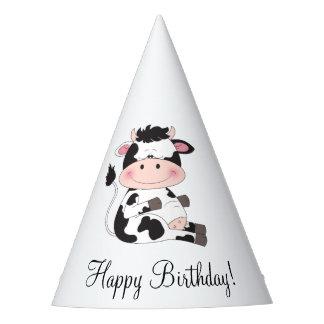Niedlicher Baby-Kuh-Cartoon Partyhütchen