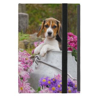 Niedlicher Beagle-Hundewelpe in einer Milchkanne - Etui Fürs iPad Mini