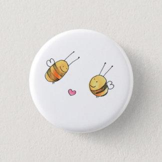 Niedlicher Bienen-Knopf Runder Button 2,5 Cm