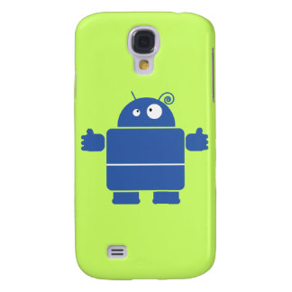 Niedlicher blauer Roboter iPhone 3G Kasten Galaxy S4 Hülle