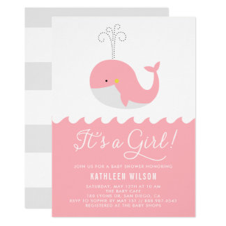 Niedlicher blaues Baby-Wal ist es eine 12,7 X 17,8 Cm Einladungskarte