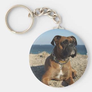 Niedlicher Boxer-Hund Keychain Schlüsselanhänger