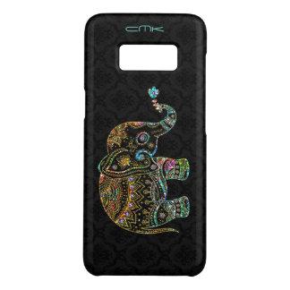 Niedlicher Elefant-schwarzes u. buntes kiesigeres Case-Mate Samsung Galaxy S8 Hülle
