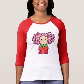 Niedlicher Erdbeermädchen-T - Shirt