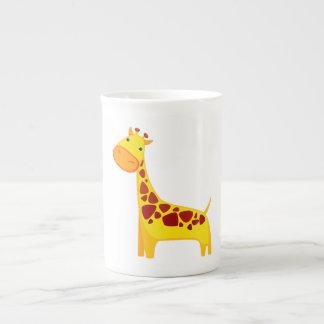 Niedlicher Giraffen-Cartoon Prozellantasse