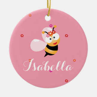 Niedlicher Girly rosa Keramik Ornament
