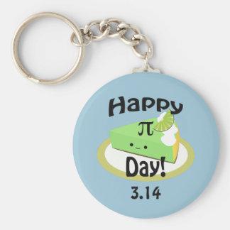 Niedlicher glücklicher PU-Tag Standard Runder Schlüsselanhänger