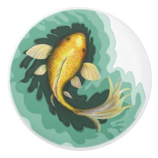 Niedlicher Goldfish-Karpfen Keramikknauf
