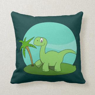 Niedlicher grüner Dinosaurier Kissen
