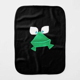 Niedlicher grüner Frosch-Babyburp-Stoff Spucktuch