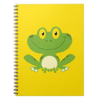 Niedlicher grüner Frosch Notizbuch