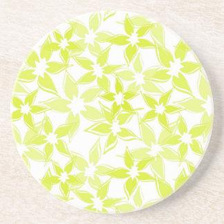 Niedlicher grüner gelber BlumenUntersetzer Untersetzer
