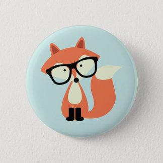 Niedlicher Hipsterroter Fox Runder Button 5,7 Cm