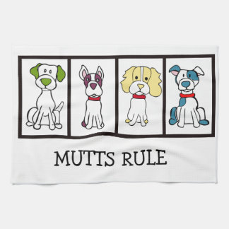 Niedlicher Hund Dishtowel - Köter-Regel Handtuch
