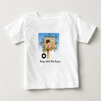 Niedlicher Junge im Baum-Haus-Shirt Baby T-shirt