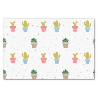 Niedlicher Kaktus Seidenpapier