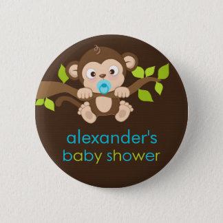 Niedlicher kleiner Affe-Jungen-Baby-Duschen-Knopf Runder Button 5,7 Cm