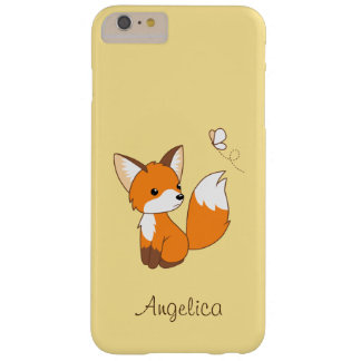Niedlicher kleiner aufpassender Schmetterling Fox Barely There iPhone 6 Plus Hülle
