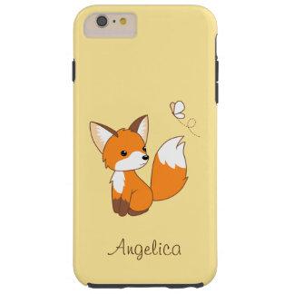 Niedlicher kleiner aufpassender Schmetterling Fox Tough iPhone 6 Plus Hülle