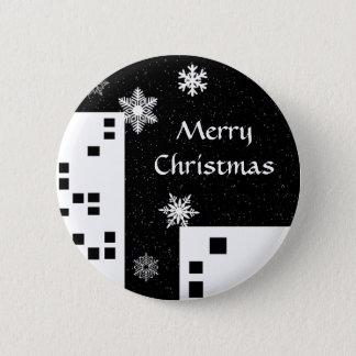 Niedlicher Knopf der frohen Weihnachten Runder Button 5,1 Cm