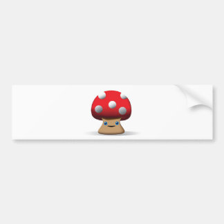 Niedlicher Knopf-Pilz Autoaufkleber