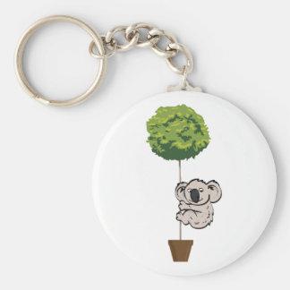 Niedlicher Koala auf dem Baum Standard Runder Schlüsselanhänger
