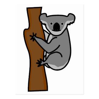 Niedlicher Koalabär in einem Baum Postkarte
