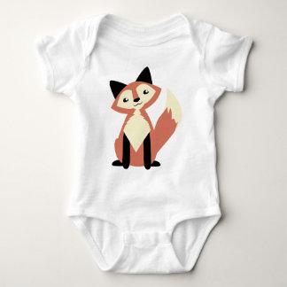 Niedlicher Kopf-Neigung Fox Baby Strampler