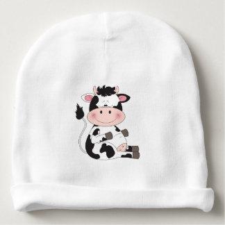 Niedlicher Kuh-Cartoon Babymütze