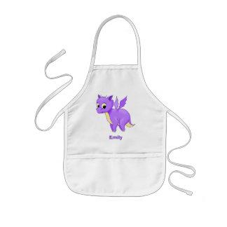 Niedlicher lila Fliegen-Baby-Drache Kinderschürze