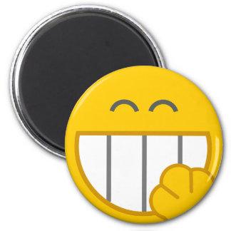 Niedlicher lustiger Smiley-Schließfach-Magnet Runder Magnet 5,1 Cm