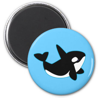 Niedlicher Orca (Mörder-Wal) Runder Magnet 5,7 Cm