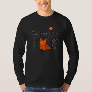 Niedlicher Origami Fox ist glückliche männliche T-Shirt