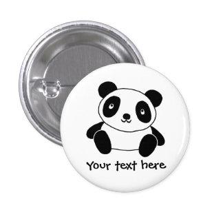 Niedlicher Panda Runder Button 2,5 Cm
